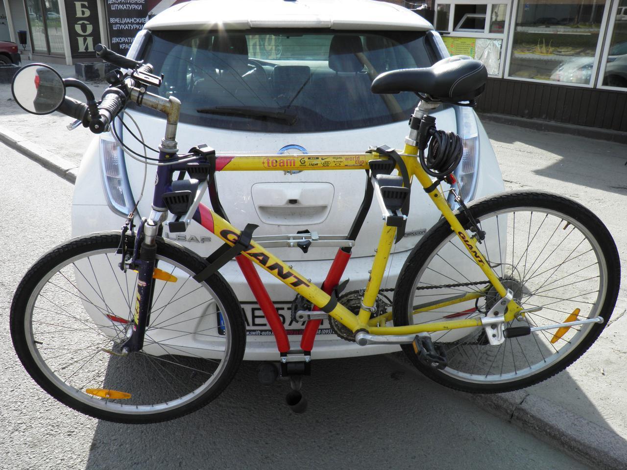 Крепление для велосипеда на фаркоп авто (для 2х велосипедов) Кенгуру