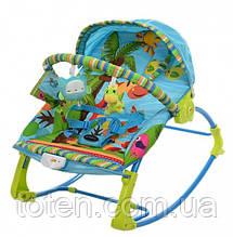 Детский шезлонг - качалка PK-306-4 голубой