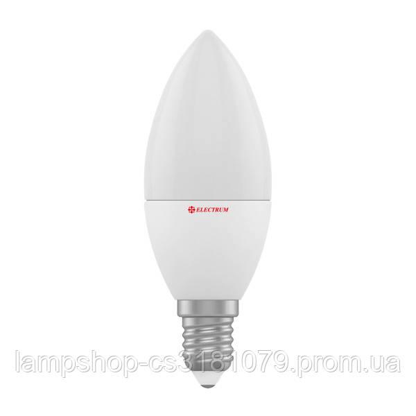 Лампа светодиодная свеча LC-4 4W E14 4000K алюмопластиковый корп. A-LC-0287
