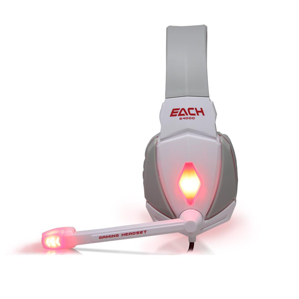 Игровые наушники с микрофоном USB + 3,5 мм. геймерские для компьютера ПК с подсветкой Kotion Each G4000
