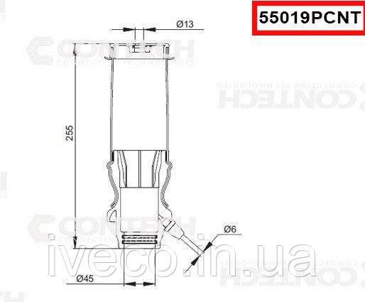 Пневмоподушка амортизатора кабины мерседес 55019PCNT Mercedes 9428900219, 9428906019