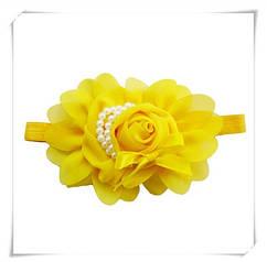 Детская желтая повязка -  окружность 36-50см,размер цветка 13см