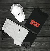 Мужской летний костюм Nike & Levi's(Найк и Левайс) комплект 3 в 1