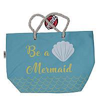 Детская пляжная сумка Русалка для девочки (р. 56x18x38 см) ТМ ARDITEX Голубой ZK50211