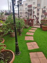 Искусственный газон на террасе PV Одесса