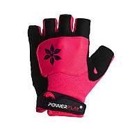 Велоперчатки женские PowerPlay 5284C M Pink