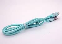 USB кабель iPhone Lightning WALKER C560 зеленый