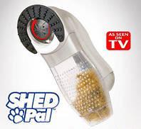 Машинка расческа для вычесывания и сбора подшерстка животных Shed Pal