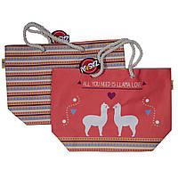Детская пляжная сумка Ламы для девочки (р. 56x18x38 см) ТМ ARDITEX Оранжевый ZK50331