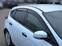 Дефлекторы окон на Ford Focus 3 11- хэтчбек (Cobra Tuning)