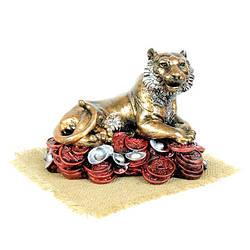 Лев Фен-Шуй на деньгах статуэтка h17 см гипс
