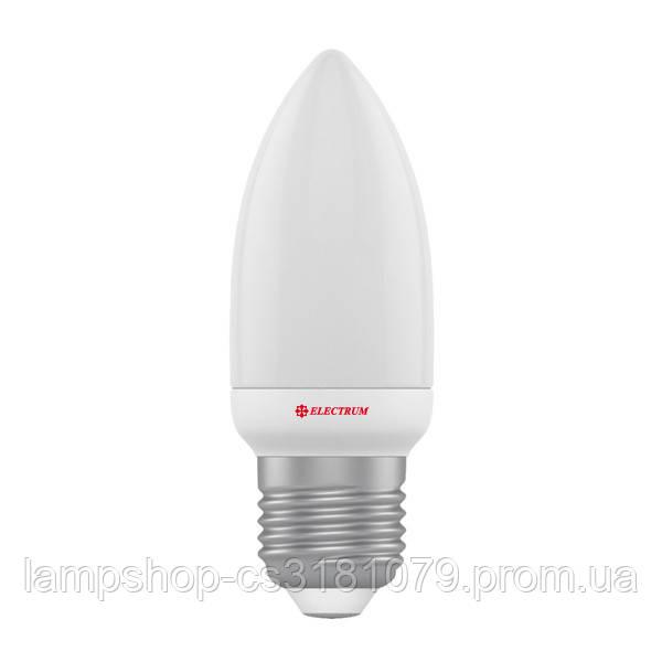 Лампа светодиодная свеча LC-5 4W E27 2700K алюмопластиковый корп. A-LC-1805