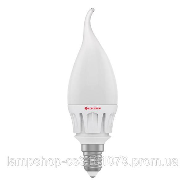 Лампа светодиодная свеча на ветру LC-14 7W E14 4000K алюм. корп. A-LC-0486