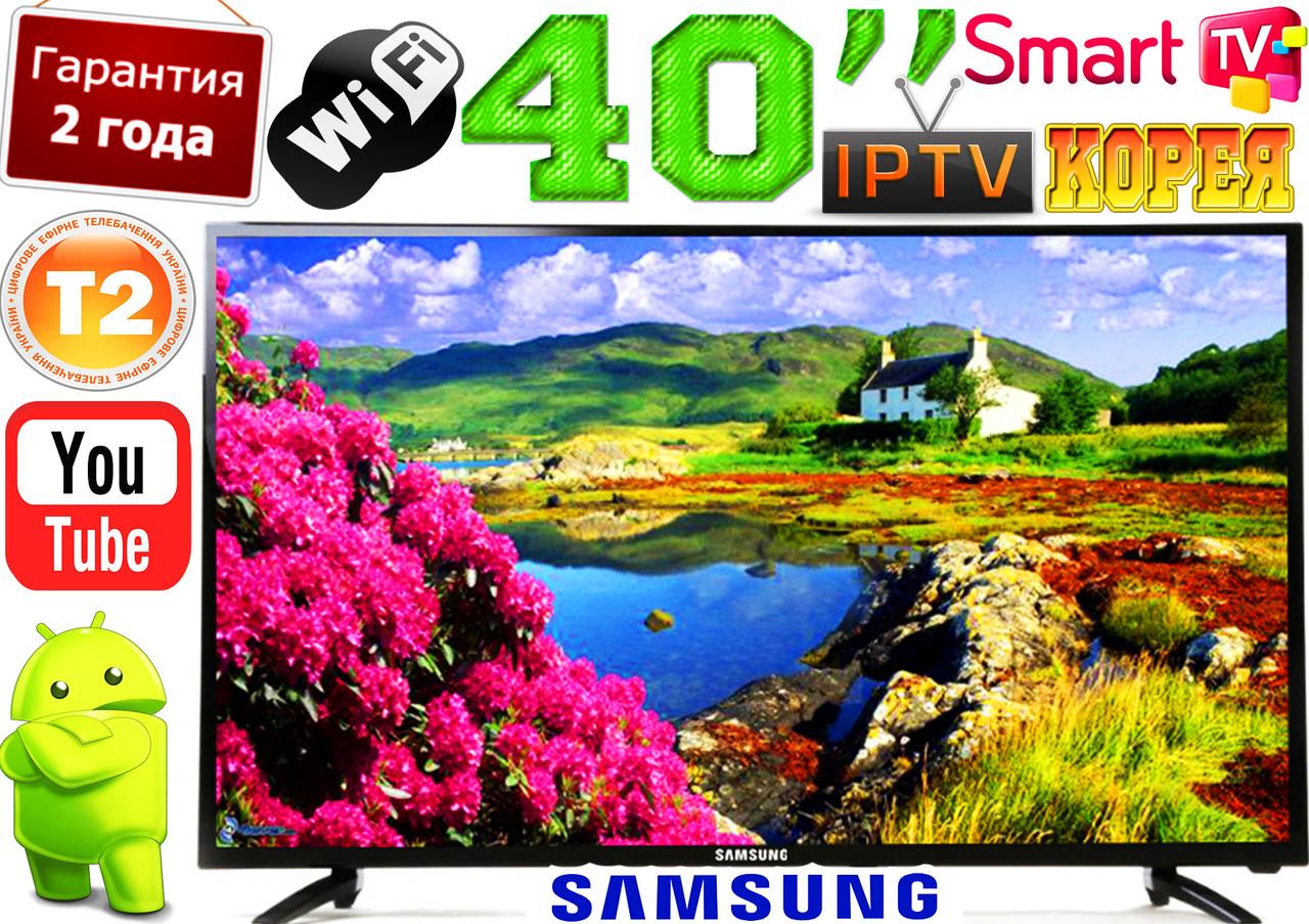 "Телевизор 40"" Samsung Slim 4K 3840x2160 , SmartTV LED!, IPTV, Android, T2, WIFI, USB КОРЕЯ!"