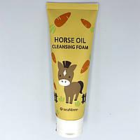 Увлажняющая пенка для умывания с конским жиром SeaNtree Horse Oil 100 Cleansing Foam- 120 мл
