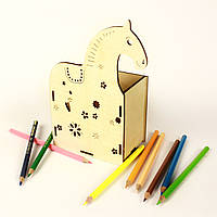 """Подставка для ручек деревянная """"Лошадка"""", LaserBox"""