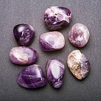 Натуральный камень Аметист галтовка 15х20мм( +-) фасовка 100грамм