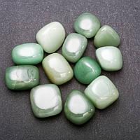 Натуральный камень Нефрит галтовка 15х20мм( +-) фасовка 100грамм