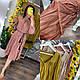 Стильное женское платье-миди свободного кроя (коттон-жатка), фото 9