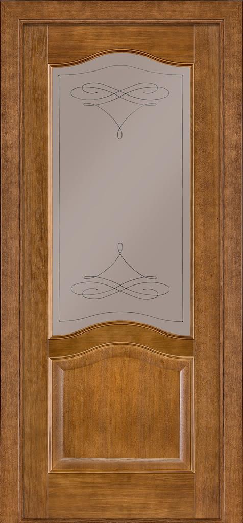 Двері Classic 03, полотно, шпон, дуб темний