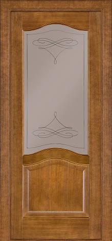Двері Classic 03, полотно, шпон, дуб темний, фото 2
