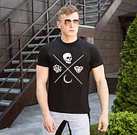 Футболка мужская Pobedov стрейчевая стильная качественная в черном цвете, фото 1