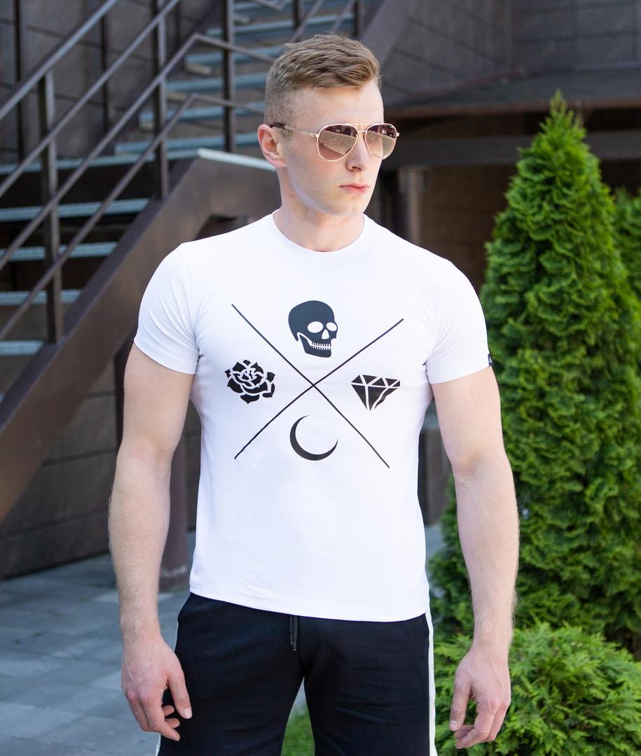 Оригинальная мужская футболка Pobedov качественный трикотаж на каждый день