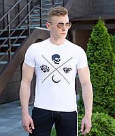 Оригинальная мужская футболка Pobedov качественный трикотаж на каждый день, фото 1
