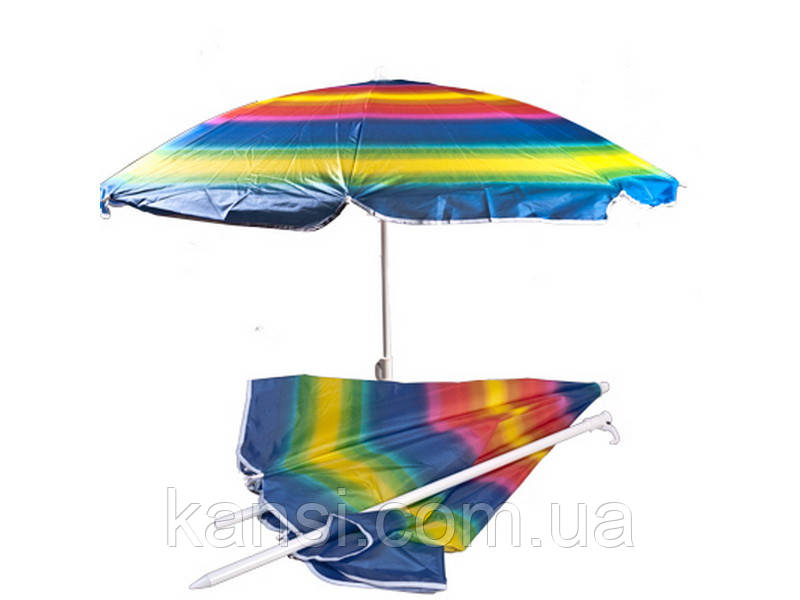 Зонт з нахилом 180см, сонцезахисний парасольку з напиленням, пляжний зонт