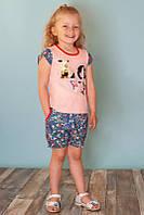 Летний костюм для девочек на рост 86-122 см