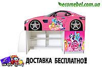 Кровать Чердак для девочек Литл Пони 2050*1290*836