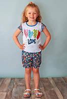 Летний костюм для девочек на рост 110-122 см