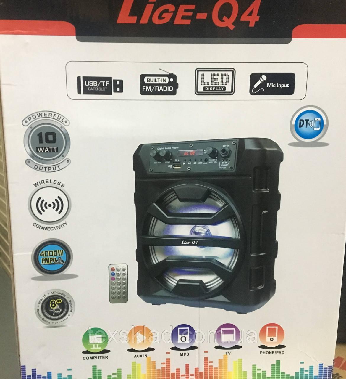 Портативная колонка Q-4 (BT/USB/FM/Аккумулятор)