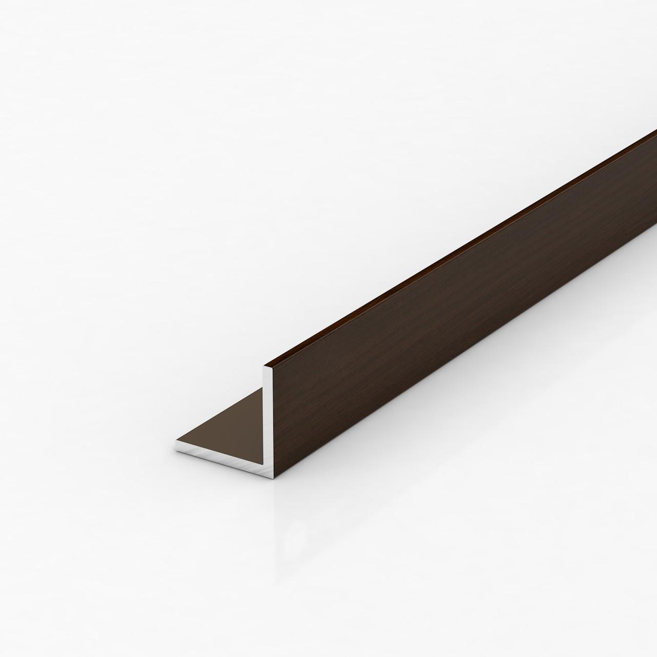 Уголок алюминиевый, орех темный 15х15х1,5