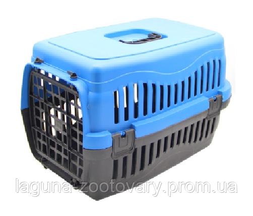 Пластиковая переноска 48*32*31см для собак, кошек, мелких грызунов до 6кг, цветная, Турция, фото 2
