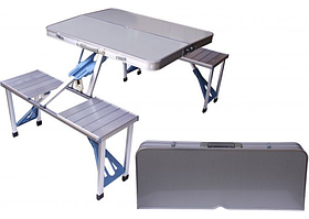 Туристичний розкладний стіл і стільці Picnic Folding Table 86x68 см, похідний набір стіл і стільці