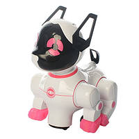 Собака 8201A(BLUE) 20см,муз,св,звук, двиг.голова и хвост,на бат-ке, в кор-ке,19-21-14см     (Розовый)