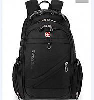 Надежный городской Рюкзак Swissgear  Швейцарский дорожный ранец 8810 Черный35 л