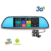 Видеорегистратор зеркало К35 ОРИГИНАЛ! GPS, wi-fi, SIM картой, Bluetooth экраном 7 дюймов.