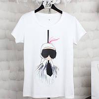 Стильные женские футболка с разными принтами