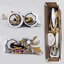 """Двухколесный детский велосипед ФИОЛЕТОВЫЙ, ручной тормоз, корзинка, сидение для куклы Corso 14"""" деткам 4-5 лет, фото 3"""