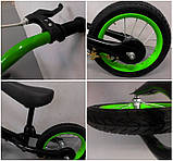 Беговел R-Sport R7 надувные колеса 12 тормоз зеленый, фото 3