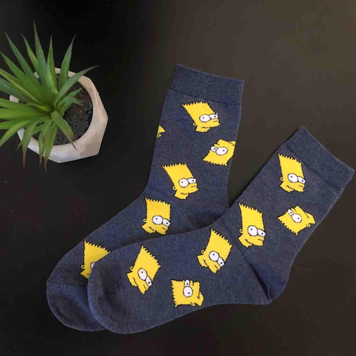 Высокие носки с Бартом симпсоном