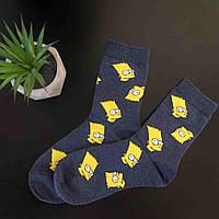 Высокие носки с Бартом симпсоном, фото 1
