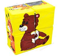"""Мягкие кубики пазлы """"Дикие животные"""""""
