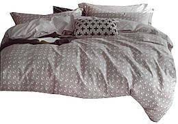 Комплект постельного белья Хлопковый Сатин Двухсторонний NR C1281 Oulaiya 8746 Бежевый