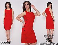 d159671cab6bf08 Летнее платье из льна большого размера цвет красный Размеры: 48,50,52,