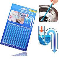 Палочки Sani Sticks для прочистки засора водосточных труб, полочки Сани Стикс средство от засора раковины 12шт