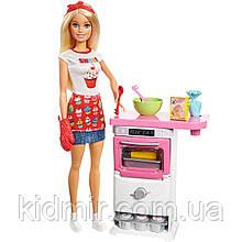 Лялька Барбі Кондитер Шеф-Кухар Блондинка Barbie Bakery Chef FHP57