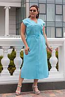 Красивое  Платье   48,50,52  лен  Цвета - на фото, фото 1